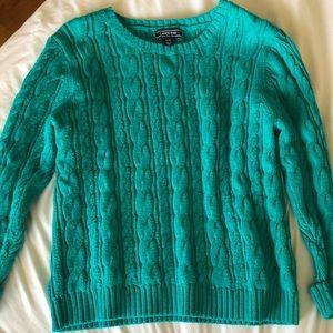 Lands End teal sweater 🧤🧣